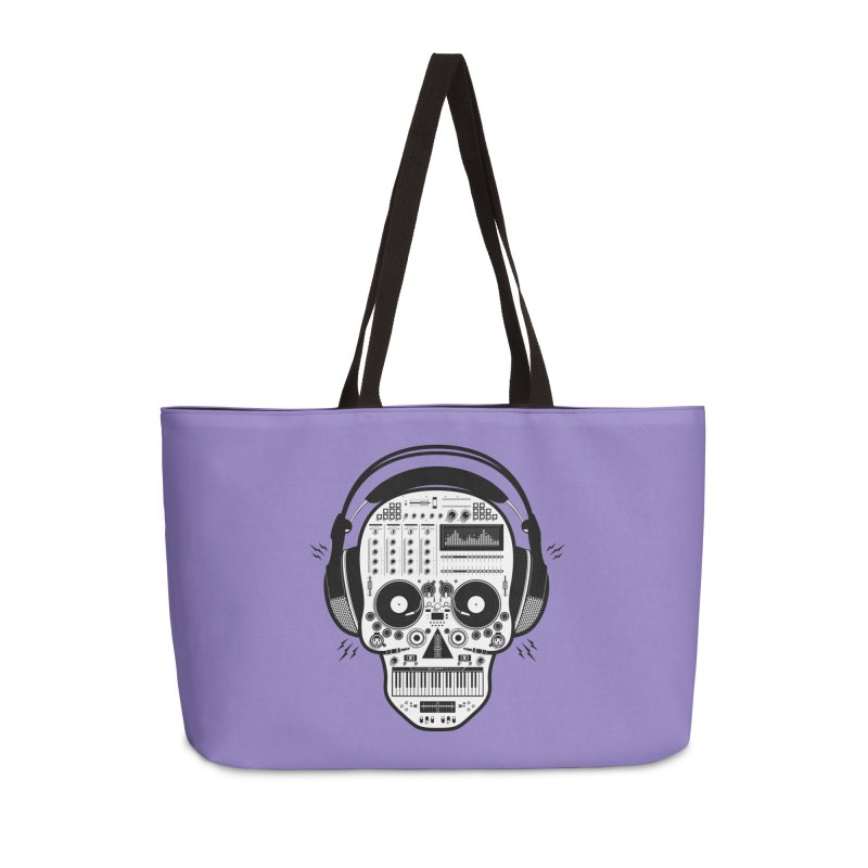 DJ Skull Accessories Weekender Bag Bag by Tony Bamber's Shop