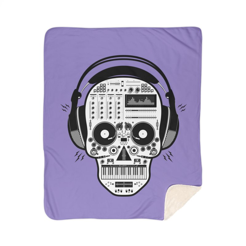 DJ Skull Home Sherpa Blanket Blanket by Tony Bamber's Shop