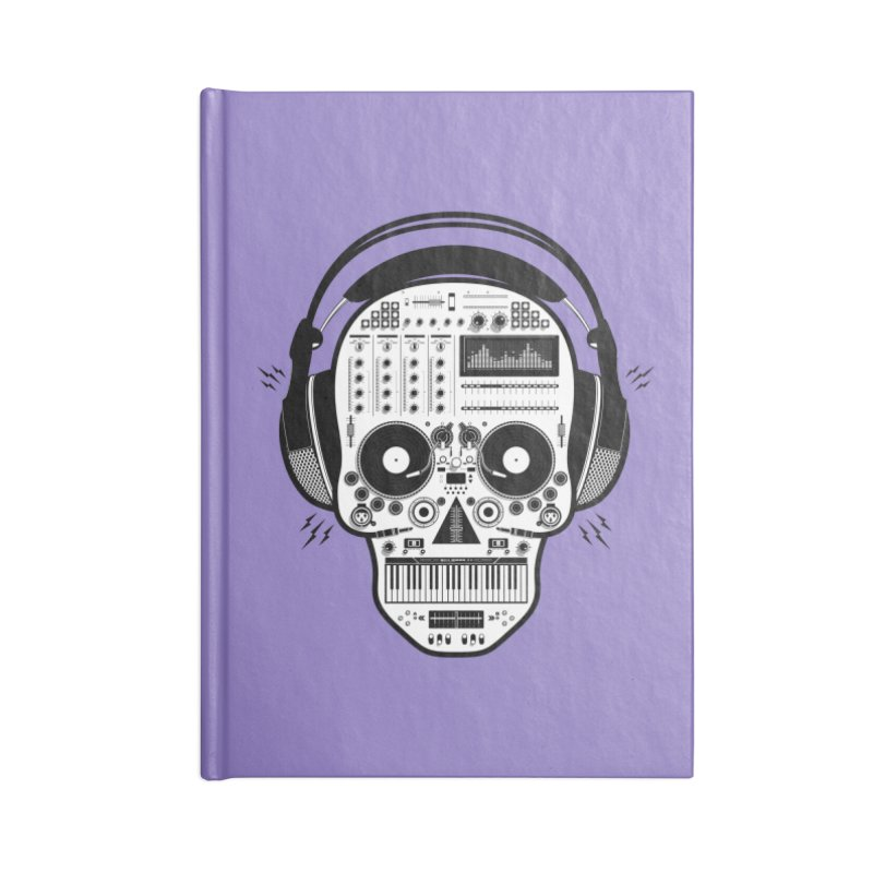 DJ Skull Accessories Blank Journal Notebook by Tony Bamber's Shop