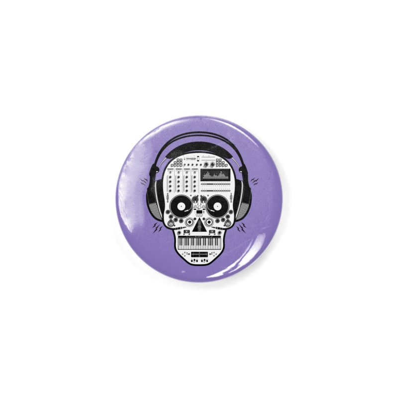 DJ Skull Accessories Button by Tony Bamber's Shop