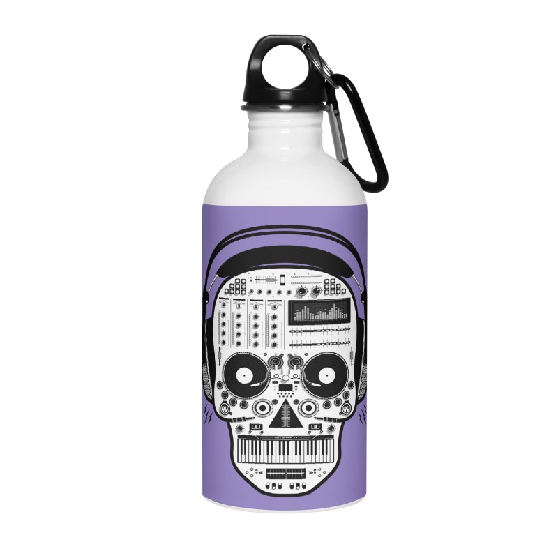 DJ Skull Accessories Water Bottle by Tony Bamber's Shop