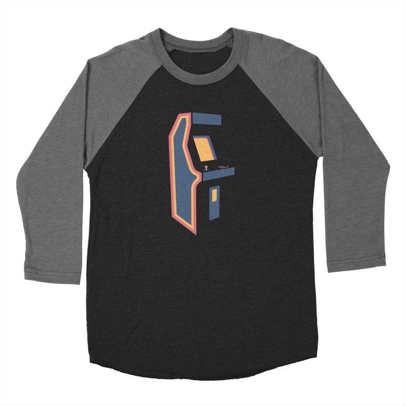 Classic Arcade Men's Baseball Triblend Longsleeve T-Shirt by Tony Bamber's Shop