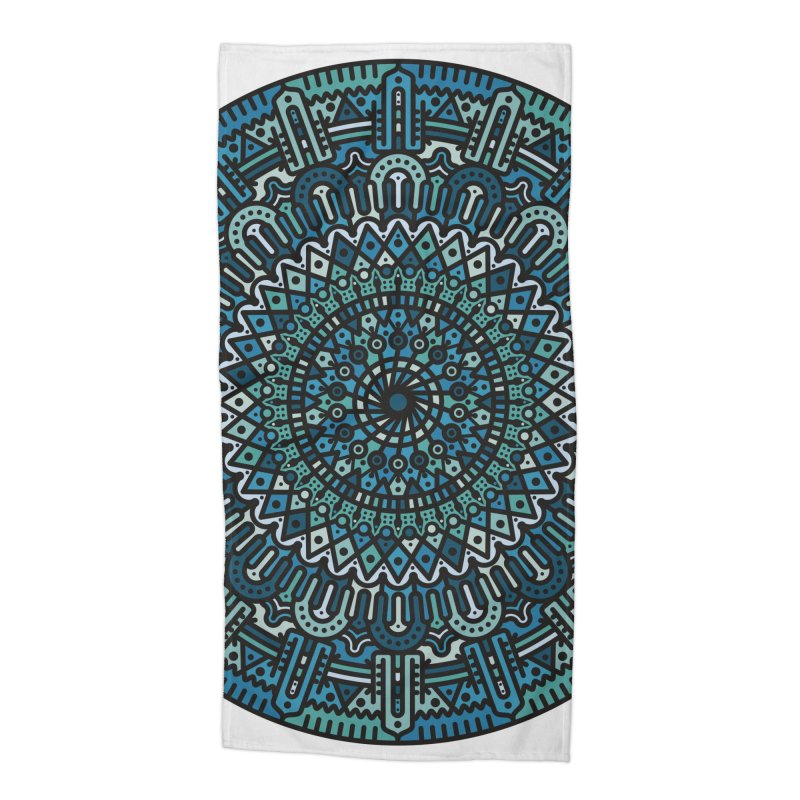 Mandala No. I Accessories Beach Towel by Tony Bamber's Artist Shop