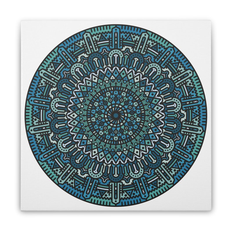 Mandala No. I Home Stretched Canvas by Tony Bamber's Artist Shop