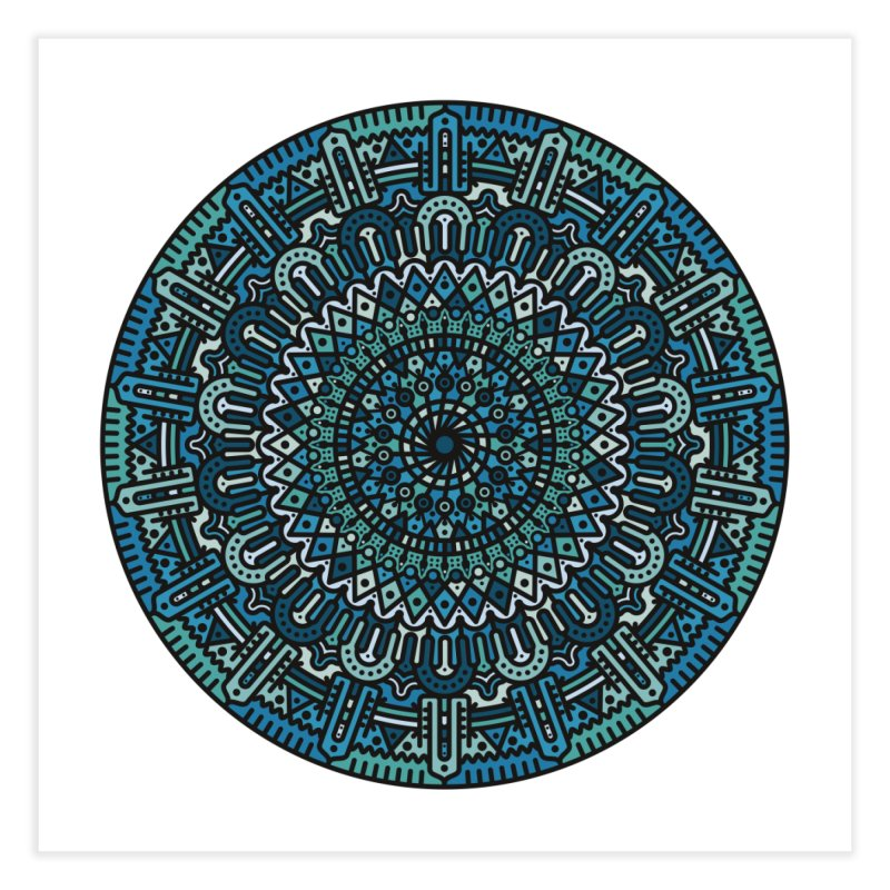 Mandala No. I Home Fine Art Print by Tony Bamber's Artist Shop