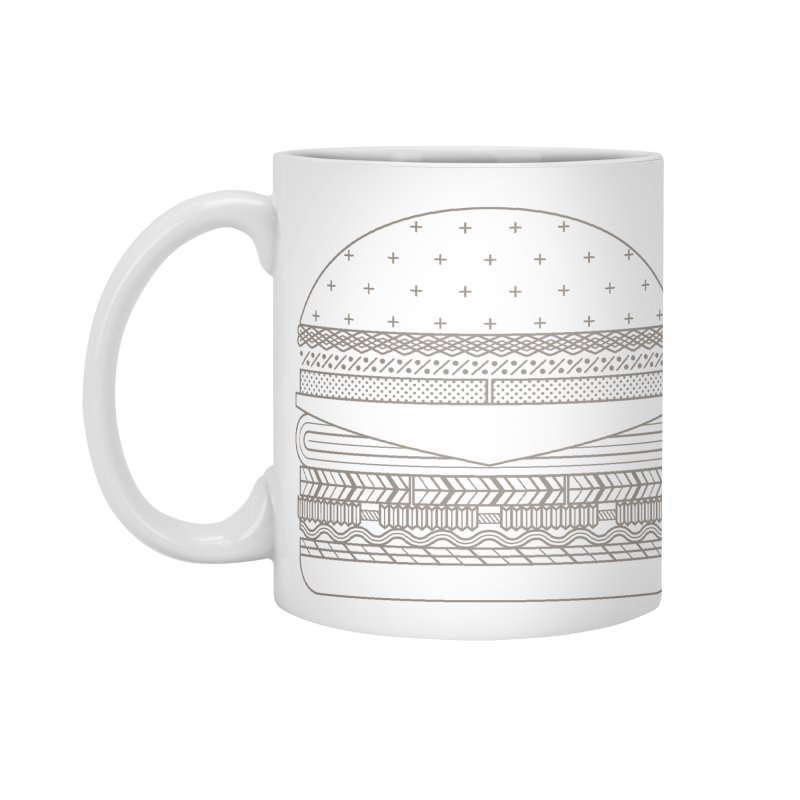 Burger Time Accessories Mug by Tony Bamber's Artist Shop