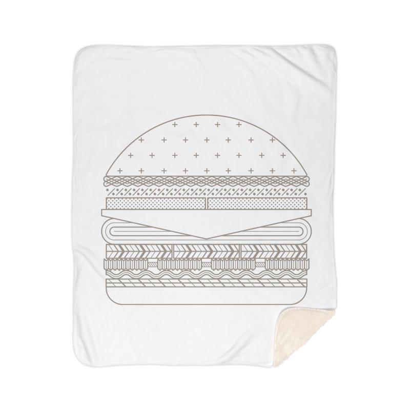 Burger Time Home Sherpa Blanket Blanket by Tony Bamber's Artist Shop