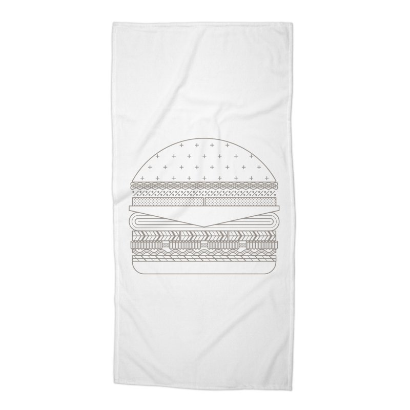 Burger Time Accessories Beach Towel by Tony Bamber's Artist Shop