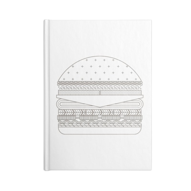 Burger Time Accessories Lined Journal Notebook by Tony Bamber's Artist Shop