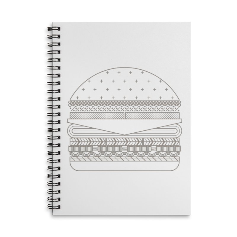 Burger Time Accessories Lined Spiral Notebook by Tony Bamber's Artist Shop