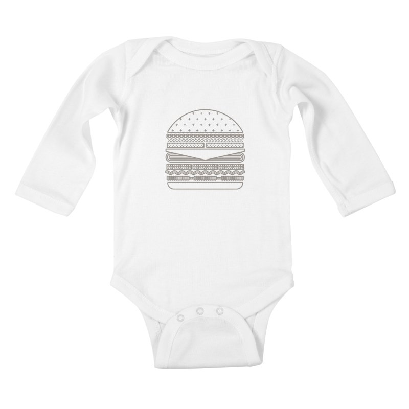 Burger Time Kids Baby Longsleeve Bodysuit by Tony Bamber's Artist Shop