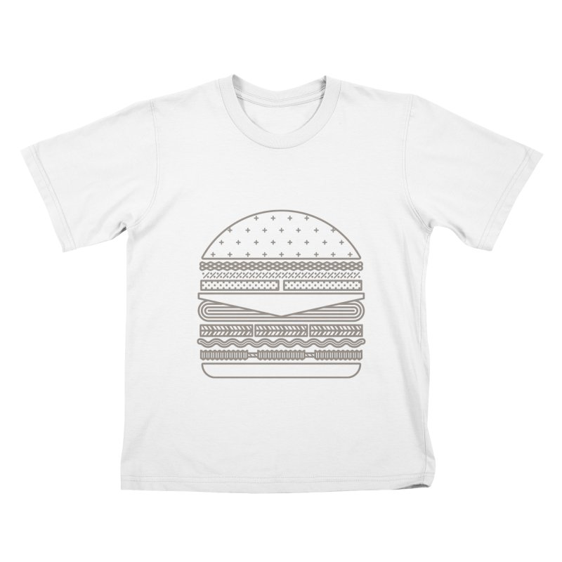 Burger Time Kids T-Shirt by Tony Bamber's Artist Shop