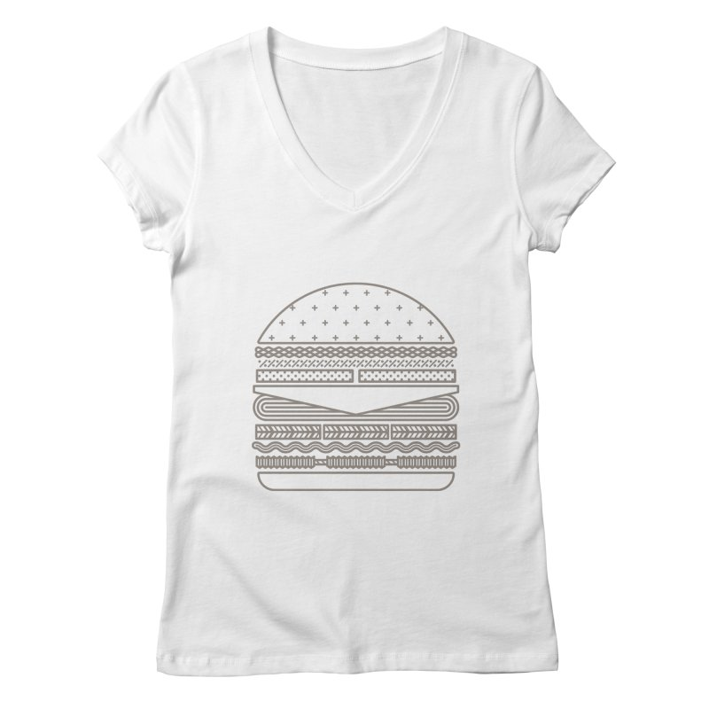 Burger Time Women's V-Neck by Tony Bamber's Artist Shop
