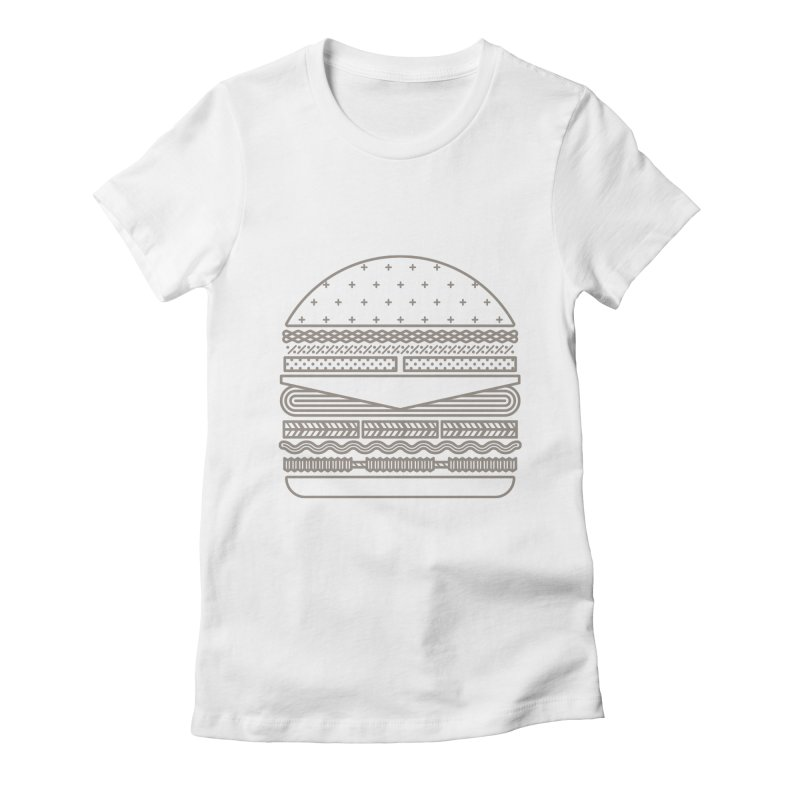 Burger Time Women's Fitted T-Shirt by Tony Bamber's Artist Shop