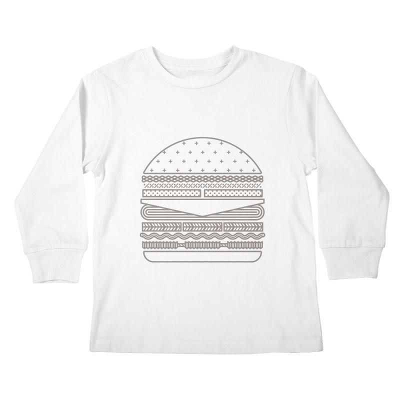 Burger Time Kids Longsleeve T-Shirt by Tony Bamber's Artist Shop