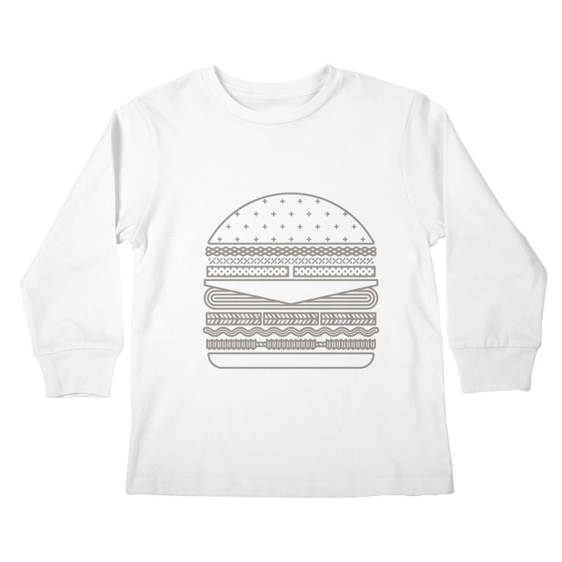 Burger Time Kids Longsleeve T-Shirt by Tony Bamber's Artist Shop