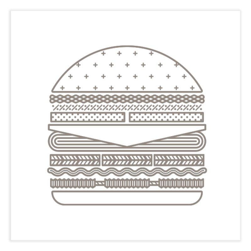 Burger Time Home Fine Art Print by Tony Bamber's Artist Shop