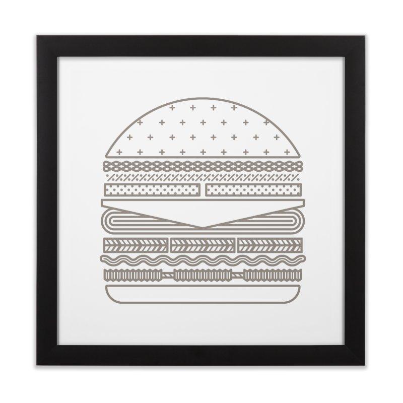 Burger Time Home Framed Fine Art Print by Tony Bamber's Artist Shop