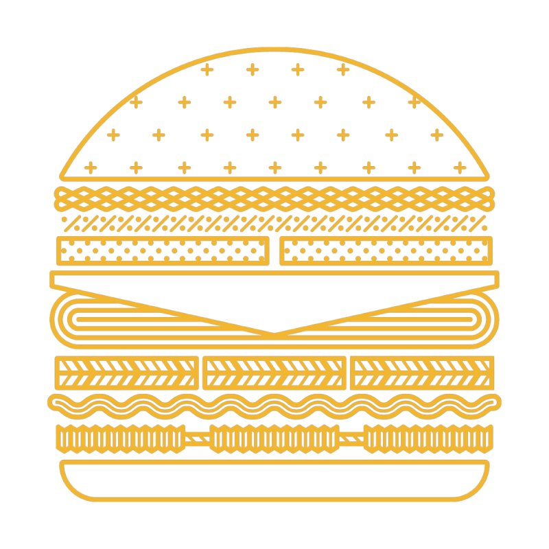 Burger Time - Yellow by Tony Bamber's Artist Shop