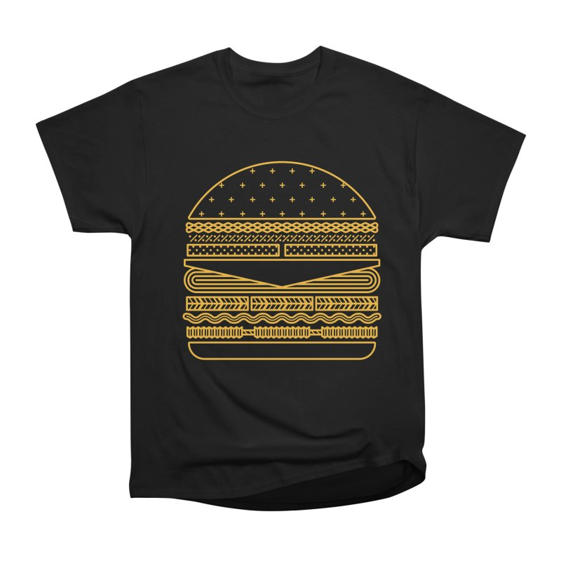 Burger Time - Yellow Women's Classic Unisex T-Shirt by Tony Bamber's Artist Shop