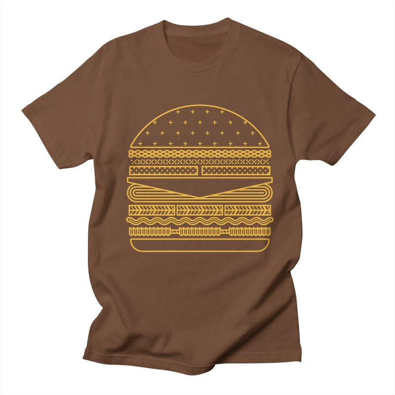 Burger Time - Yellow Men's T-Shirt by Tony Bamber's Artist Shop