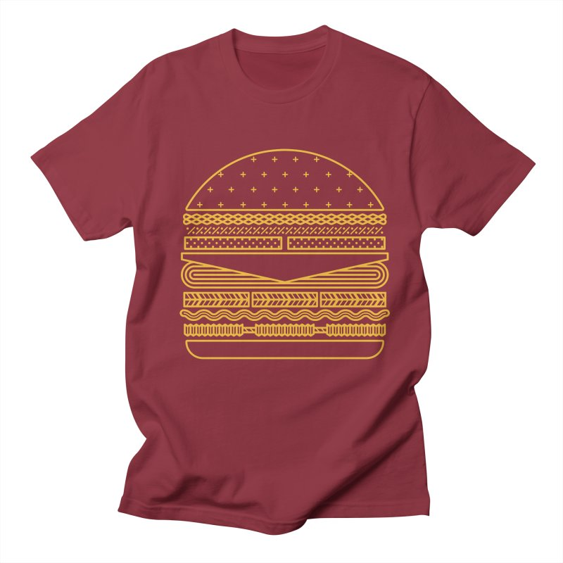Burger Time - Yellow Men's Regular T-Shirt by Tony Bamber's Artist Shop