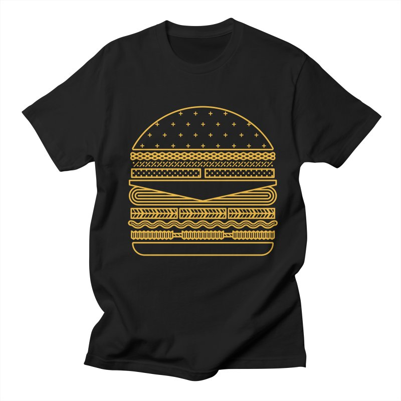 Burger Time - Yellow Women's Regular Unisex T-Shirt by Tony Bamber's Artist Shop