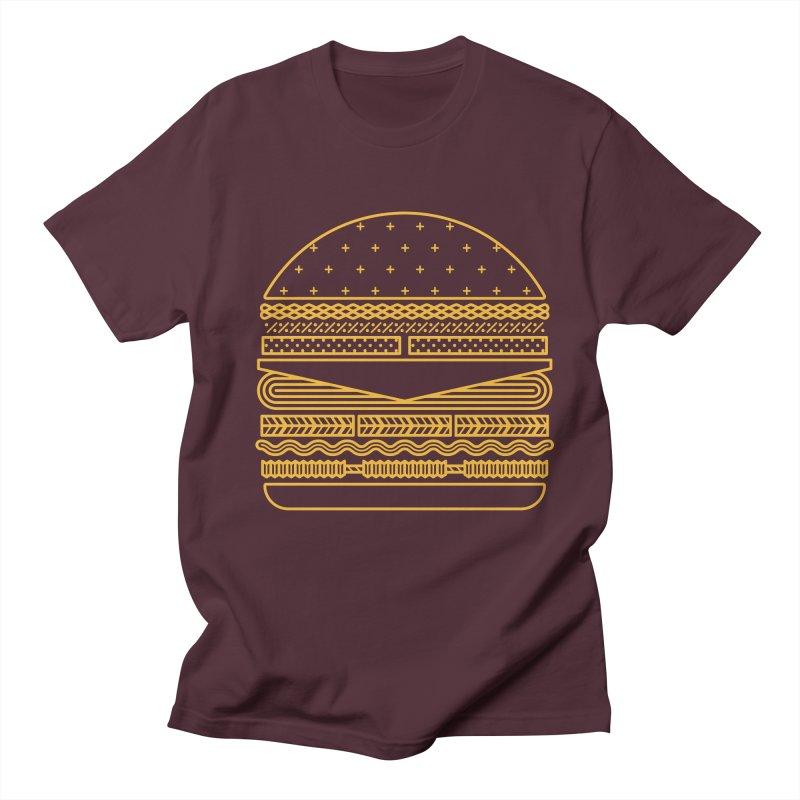 Burger Time - Yellow Women's Unisex T-Shirt by Tony Bamber's Artist Shop