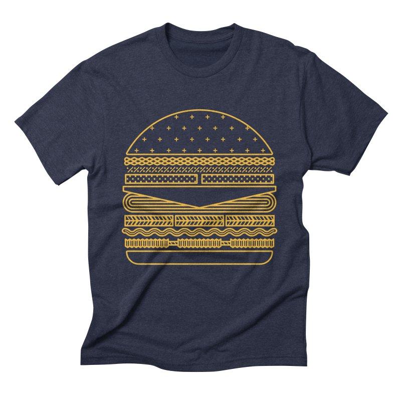 Burger Time - Yellow Men's Triblend T-Shirt by Tony Bamber's Artist Shop