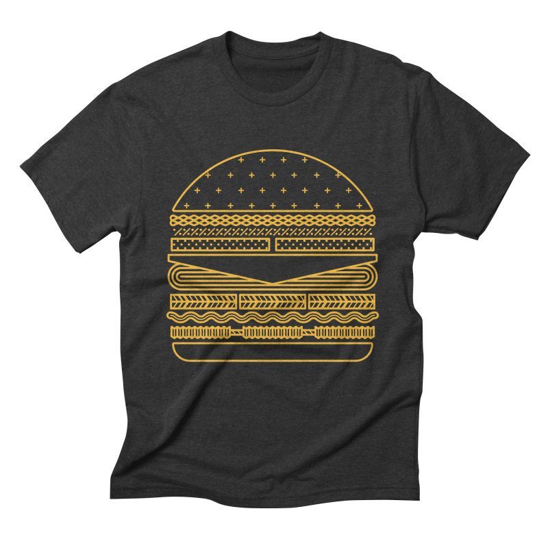 Burger Time - Yellow Men's Triblend T-Shirt by Tony Bamber's Artist Shop