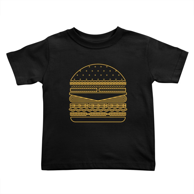 Burger Time - Yellow Kids Toddler T-Shirt by Tony Bamber's Artist Shop