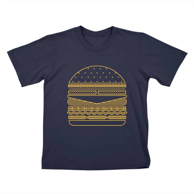 Burger Time - Yellow Kids T-Shirt by Tony Bamber's Artist Shop
