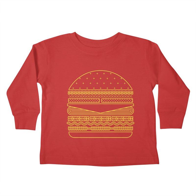 Burger Time - Yellow Kids Toddler Longsleeve T-Shirt by Tony Bamber's Artist Shop