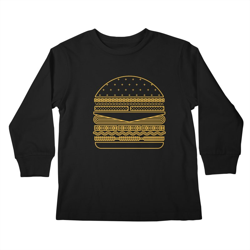 Burger Time - Yellow Kids Longsleeve T-Shirt by Tony Bamber's Artist Shop