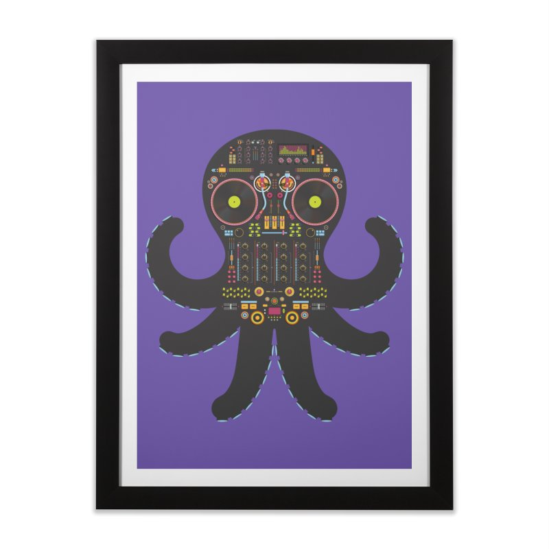 DJ Octopus Home Framed Fine Art Print by Tony Bamber's Shop