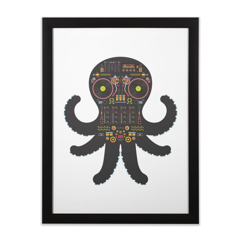DJ Octopus Home Framed Fine Art Print by Tony Bamber's Artist Shop