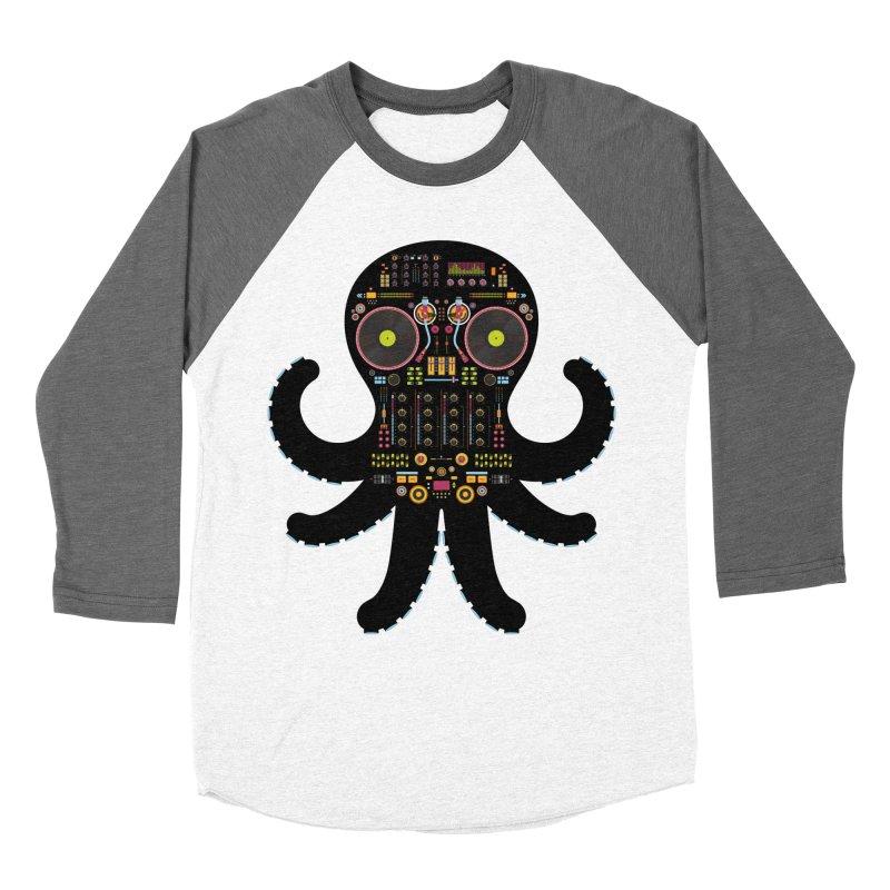 DJ Octopus Women's Longsleeve T-Shirt by Tony Bamber's Artist Shop