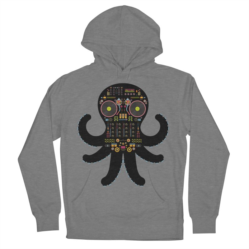 DJ Octopus Men's French Terry Pullover Hoody by Tony Bamber's Shop