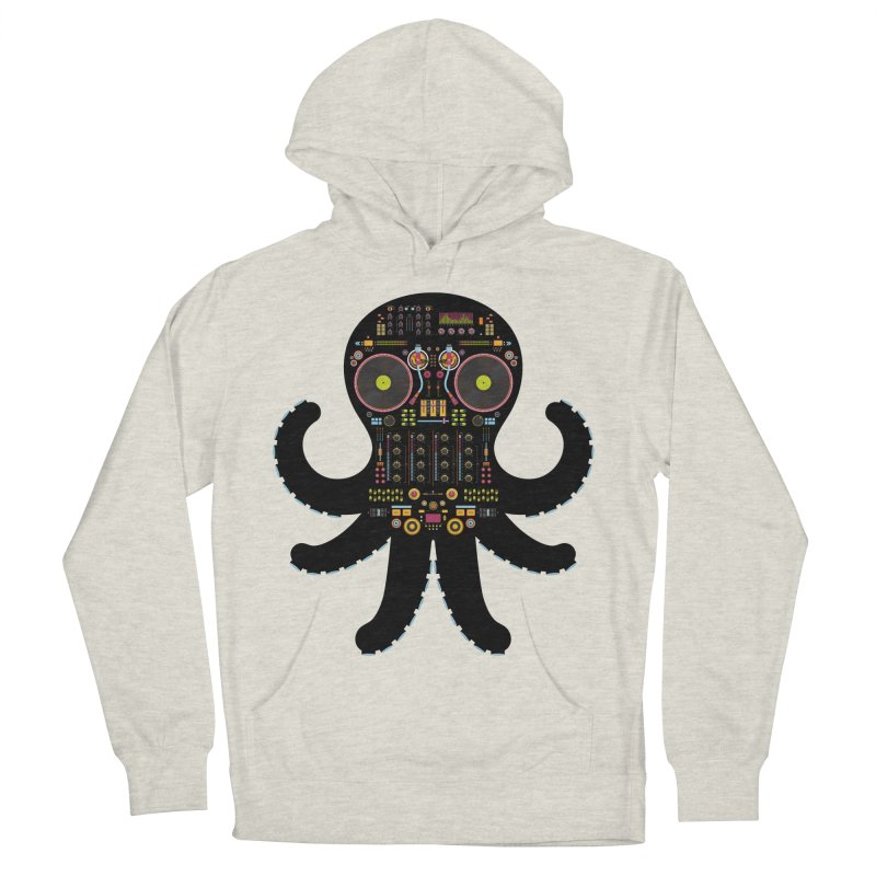 DJ Octopus Men's Pullover Hoody by Tony Bamber's Artist Shop