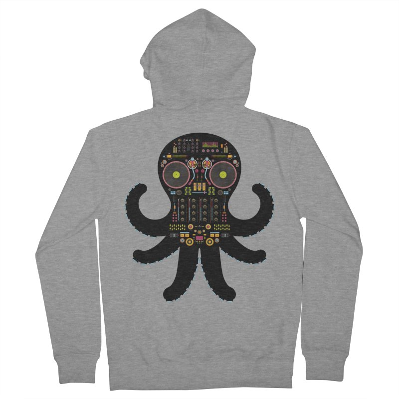 DJ Octopus Men's Zip-Up Hoody by Tony Bamber's Artist Shop