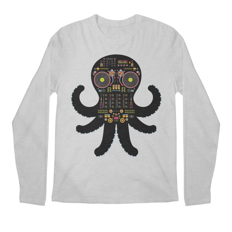 DJ Octopus Men's Regular Longsleeve T-Shirt by Tony Bamber's Artist Shop