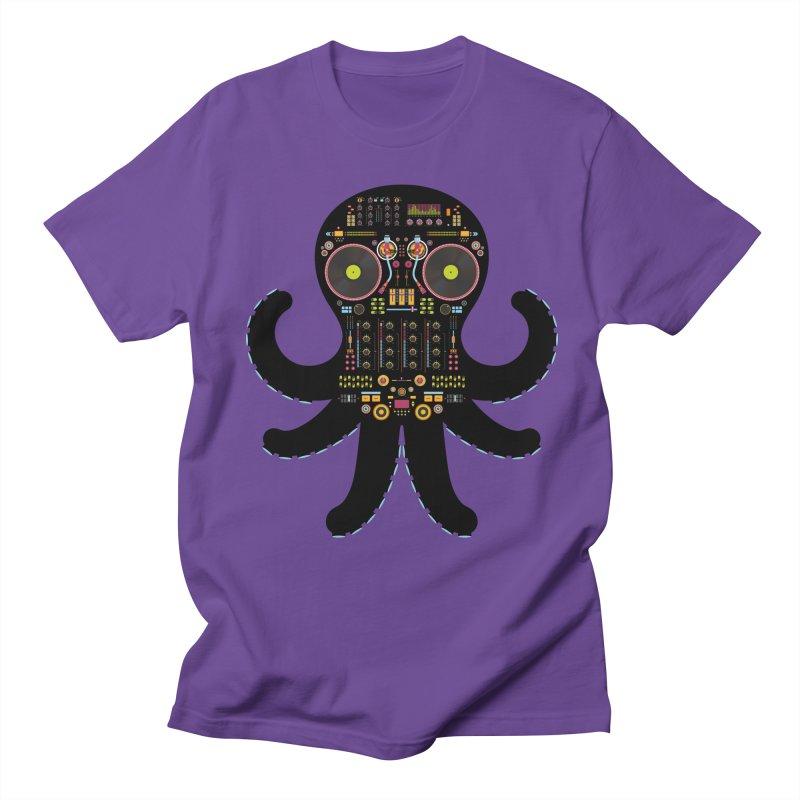 DJ Octopus Men's Regular T-Shirt by Tony Bamber's Artist Shop