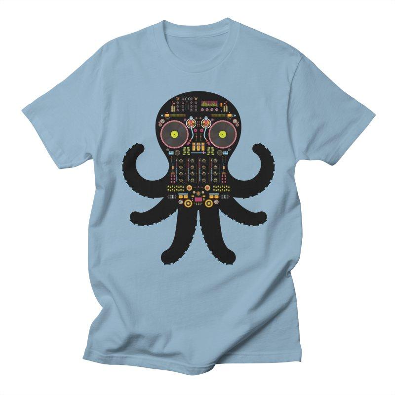 DJ Octopus Men's T-Shirt by Tony Bamber's Artist Shop