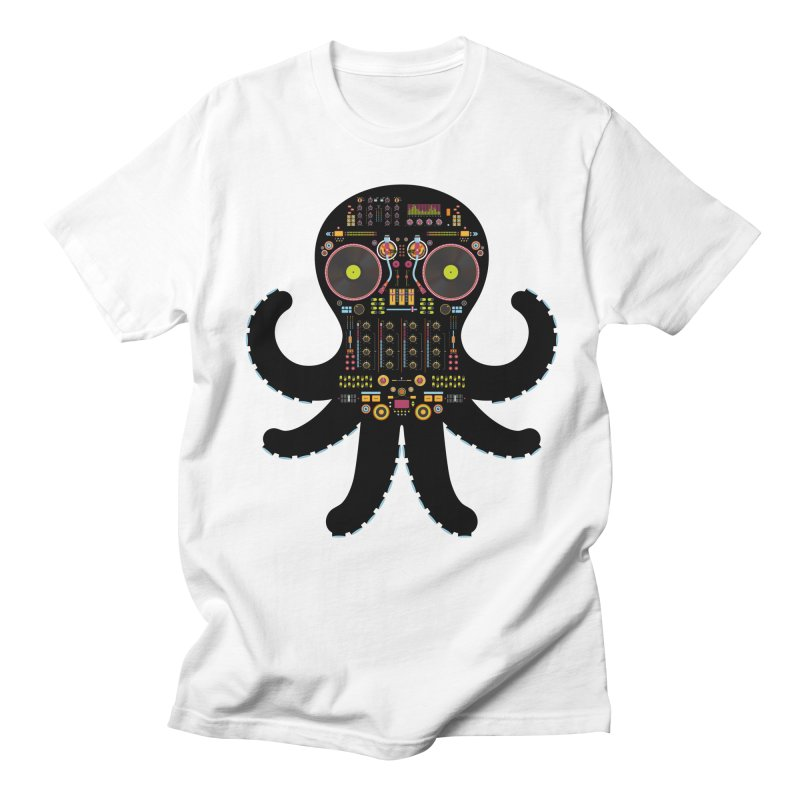 DJ Octopus Men's Regular T-Shirt by Tony Bamber's Artist Shop