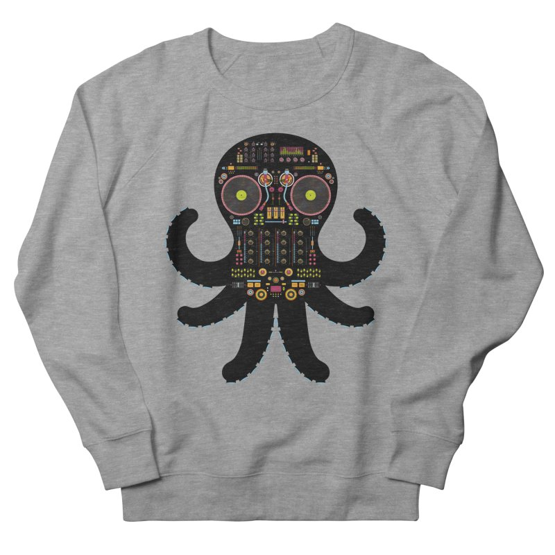 DJ Octopus Men's Sweatshirt by Tony Bamber's Artist Shop
