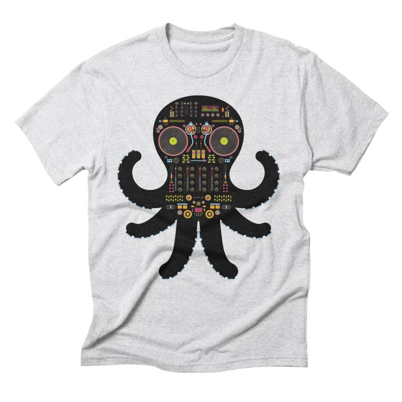 DJ Octopus Men's Triblend T-Shirt by Tony Bamber's Artist Shop