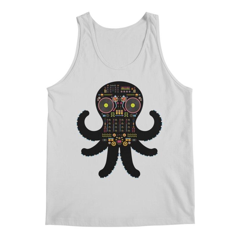 DJ Octopus Men's Regular Tank by Tony Bamber's Shop