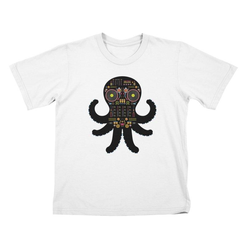 DJ Octopus Kids T-Shirt by Tony Bamber's Artist Shop
