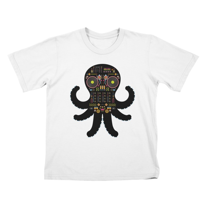 DJ Octopus Kids T-Shirt by Tony Bamber's Shop
