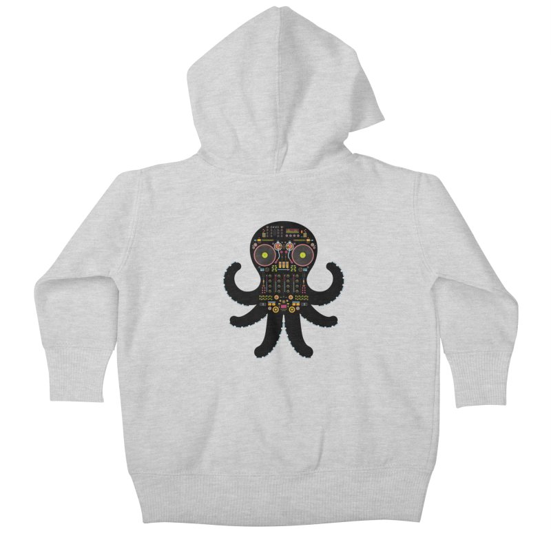 DJ Octopus Kids Baby Zip-Up Hoody by Tony Bamber's Artist Shop